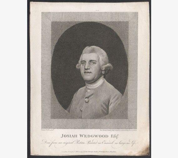 Josiah Wedgwood portrait engraving pottery Etruria Stubbs
