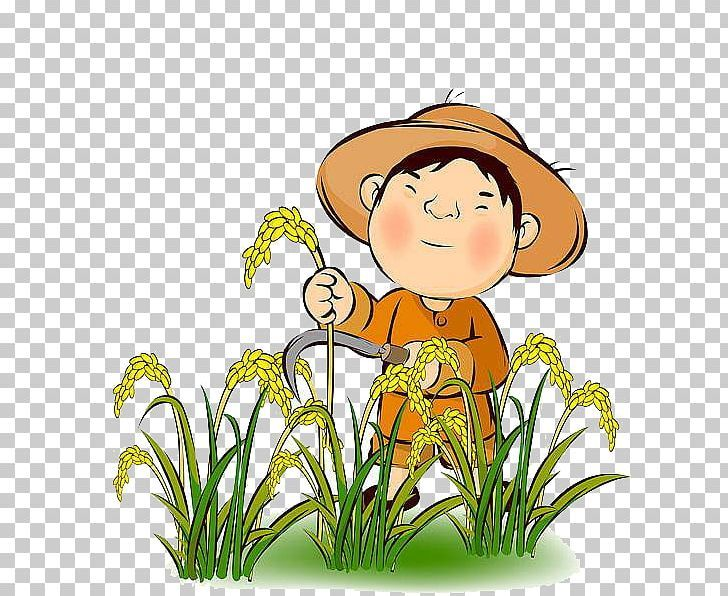 Farmer Rice Agriculture Harvest Png Artwork Child Collection Computer Icons Crop Png Computer Icon Comic Art