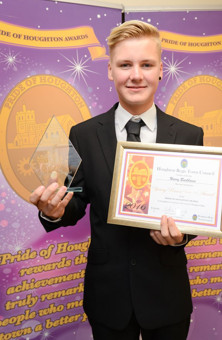 Young Person Award Winner – Harry Backhouse Presented by Cllr Chris Slough – Town Mayor of Houghton Regis