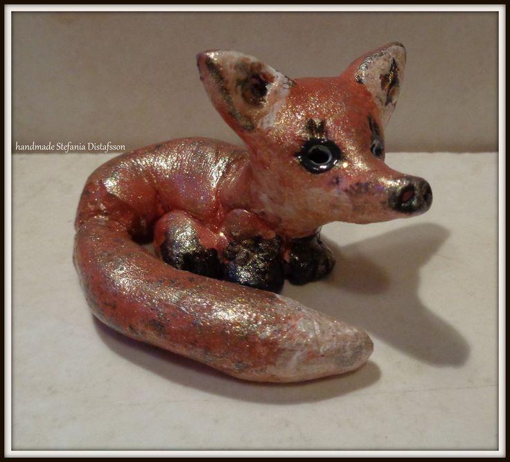 Fox - cold porcelain by MrsEfi