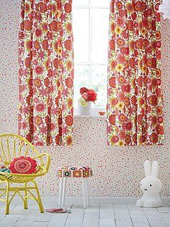 Bloomin lovely lined curtains 66x72in multicolour