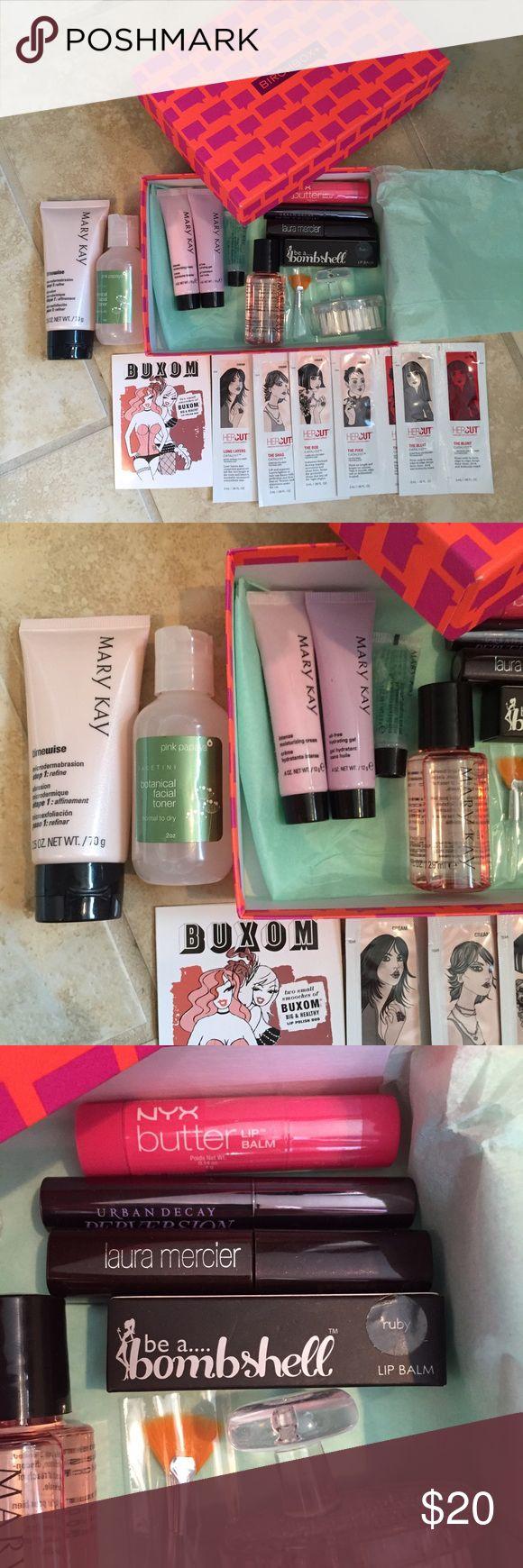 Birch box full of goodies Moisturizer cream, Eye makeup