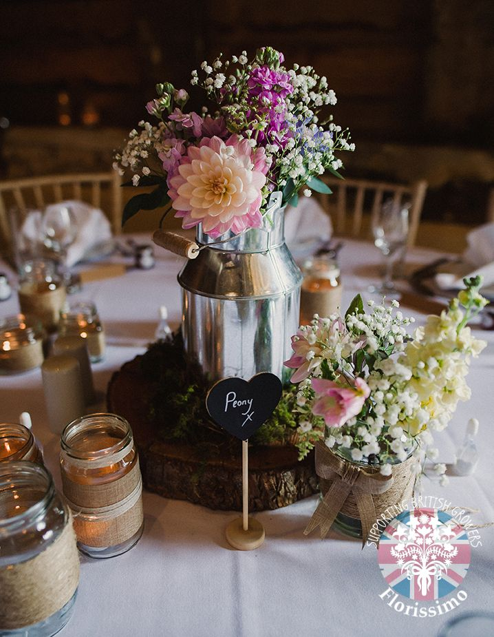 Dahlia, stock and scabious | Florissimo, Shropshire - Flowers for weddings, events and businesses. British-grown dahlia Jul-Oct; British-grown stock May-Oct; British-grown scabious Jun-Oct. Photo Amy Taylor