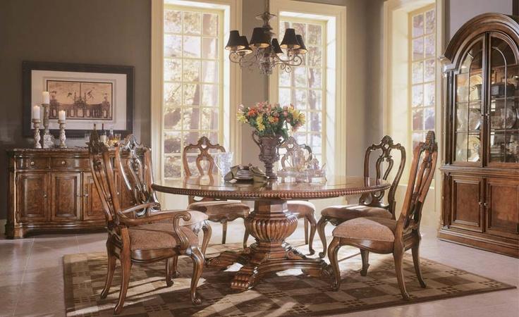 41 best dinette images on pinterest formal dining rooms for Round formal dining room sets for 8