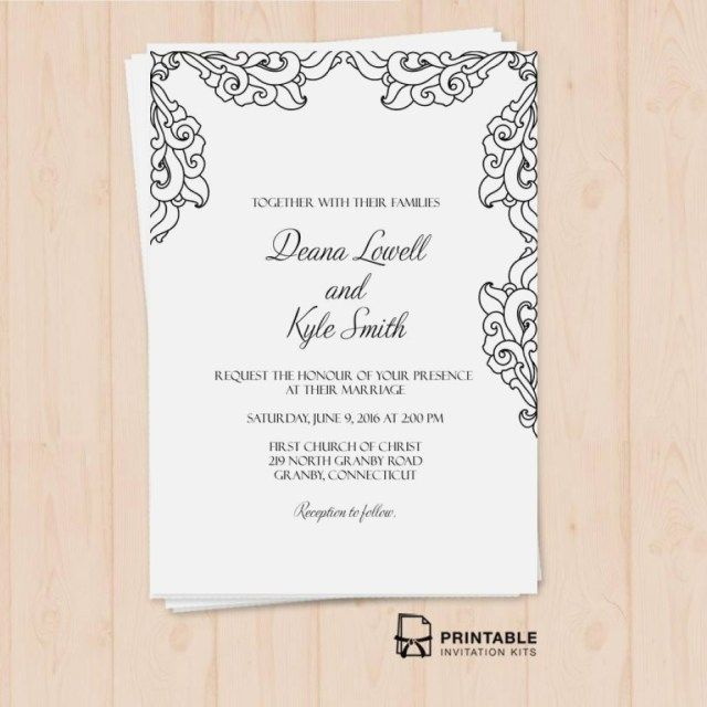 photograph regarding Printable Wedding Invitation Kits called 30+ Imaginative Impression of Printable Wedding day Invitation Kits