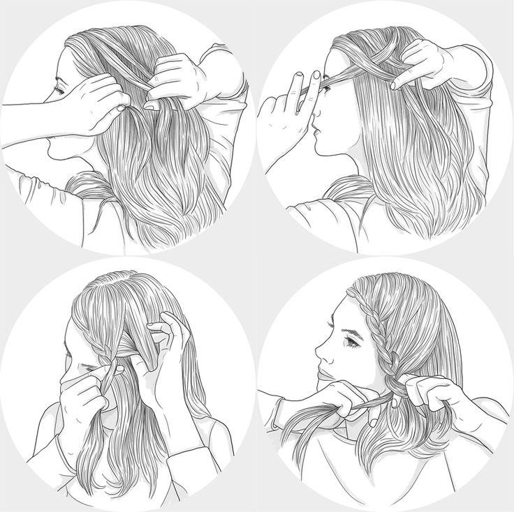 #fortunatodisco #newdivision #illustration #digital #pencil #line #textured #character #hair #plait