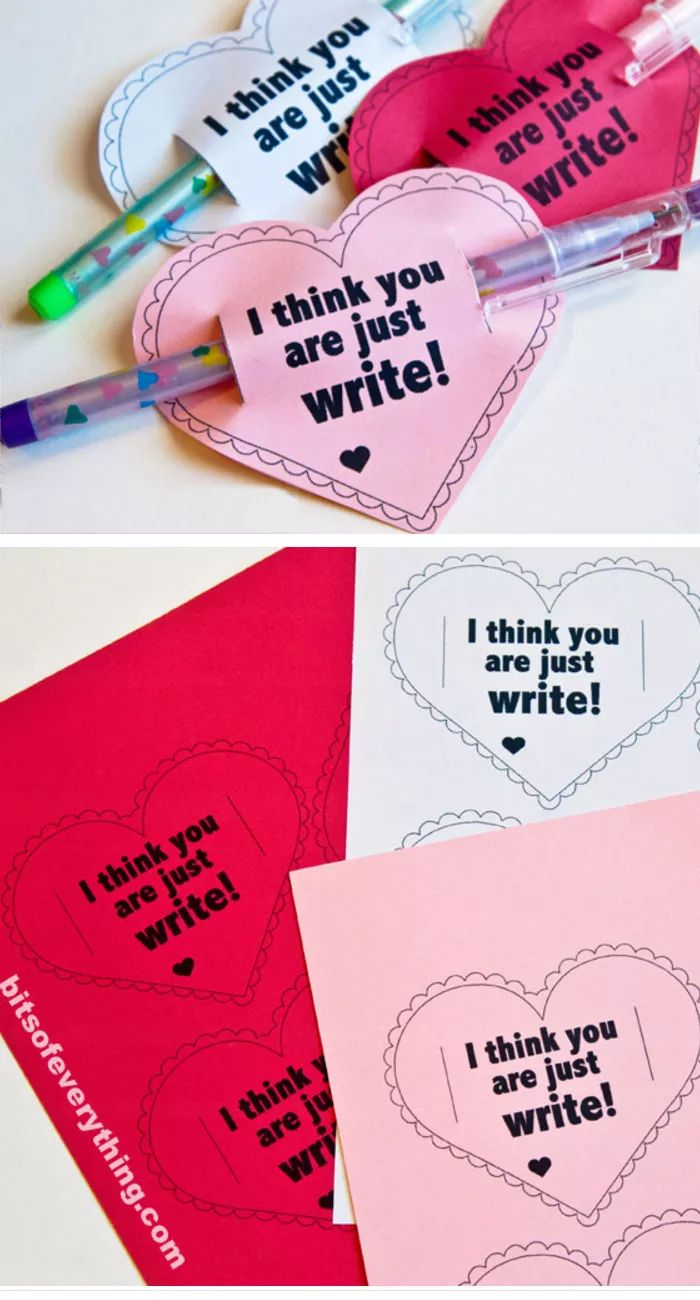 Just Write Printable Valentines Card | DIY Valentines Cards for Kids to Make | Easy Valentines Cards for Preschool