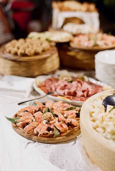 Italian delicacies at a destination wedding in Sicily  (Photo: Kate Headley)