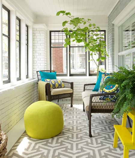 Quick Styling Trick: Outdoor Trees | Enclosed porch