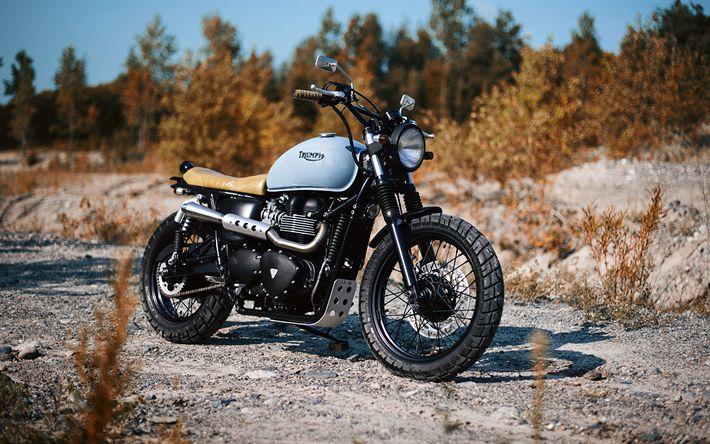 Download imagens 4k, Triumph Bonneville, sbk, 2017 motos, Triunfo
