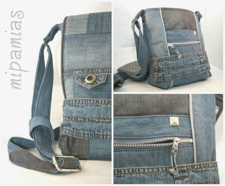 best 25 tasche aus jeans ideas on pinterest handtasche. Black Bedroom Furniture Sets. Home Design Ideas