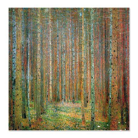 GUSTAV KLIMT PINE FOREST SHOWER CURTAIN FROM COFFEEPRESS