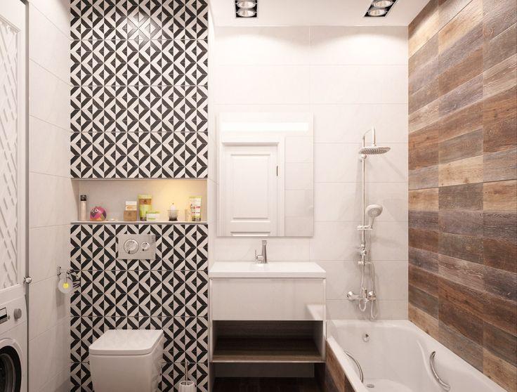 """Чтобы ванная комната была практичной и уютной, следует грамотно сделать ее планировку, расставить акценты и зонировать пространство. Дизайн ванной комнаты """"под дерево"""" выглядит креативно, создавая неповторимую атмосферу. Для создания уюта нет лучшего отделочного материала, чем дерево. Однако его применение в ванной комнате может привести к быстрой потере презентабельности помещения. Как же быть? Хорошим решением для отделки ванной может стать керамическая плитка и керамогранит """"под дерево""""…"""