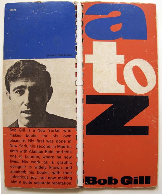 'A to Z,' by Bob Gill, 1962. Design by Bob Gill