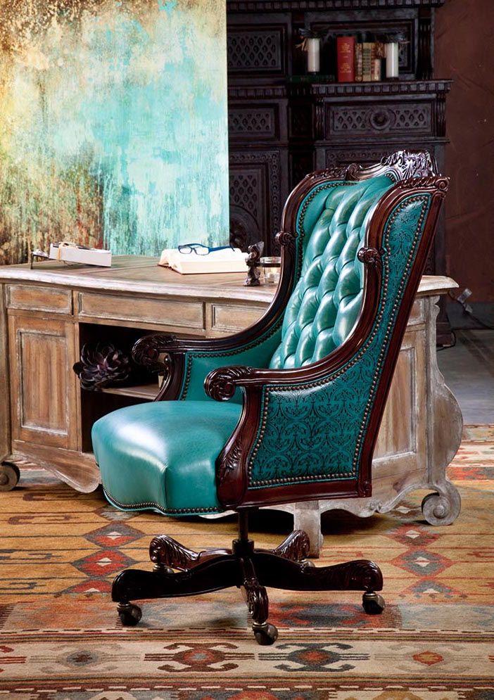 Oakley Turquoise Executive Swivel