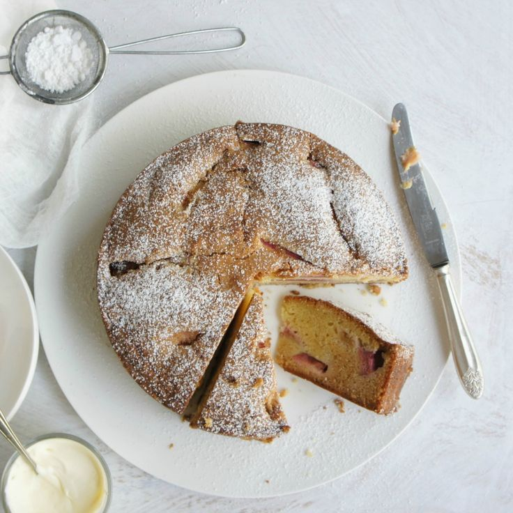 Shezza's Rubarb Cake screams spring to us.