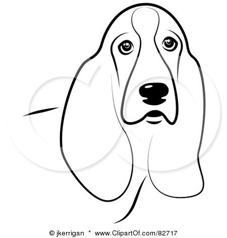 Basset Hound Outline Bing Images Dog art, Basset hound