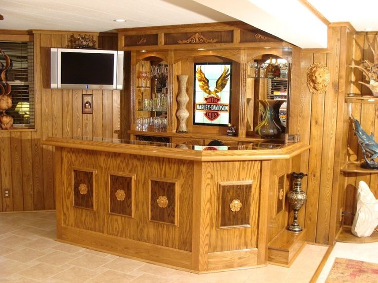 The Harley Garage Man Cave Bar