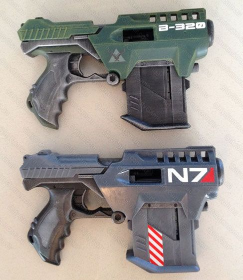 Halo Mass Effect blaster mods by GirlyGamerAU.deviantart.com on @deviantART