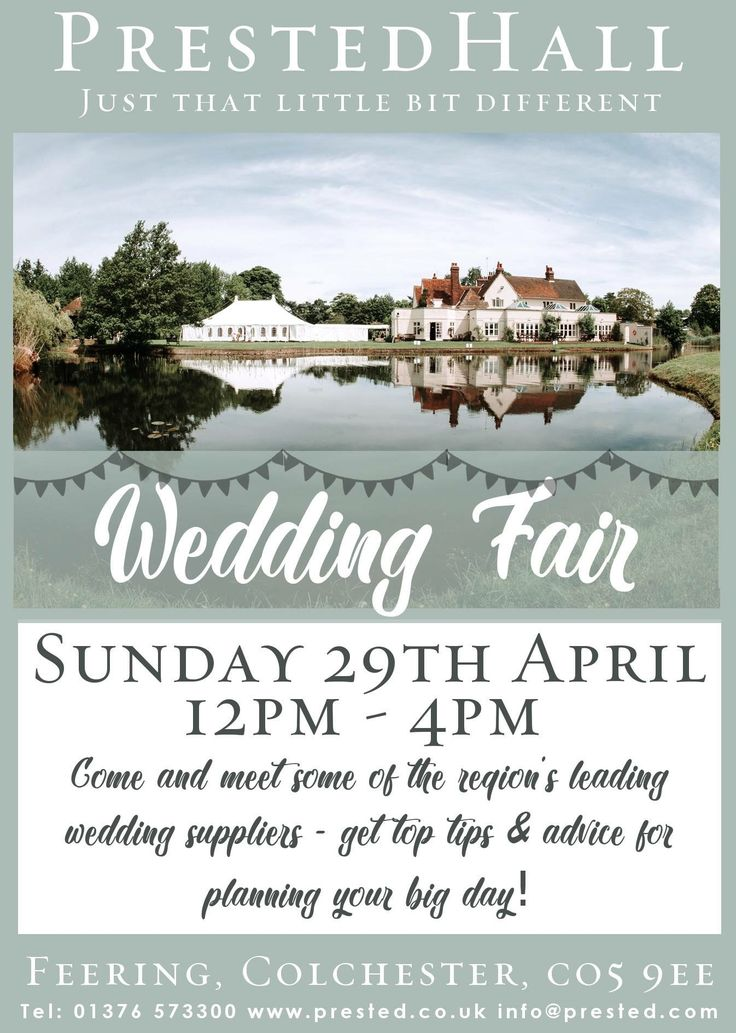 Looking forward to welcoming lots of our wonderful suppliers today for our wedding fair. If you're anywhere near Colchester on the A12 on Sunday 29th April, between 12pm and 4pm, pop in - we're only minutes away!