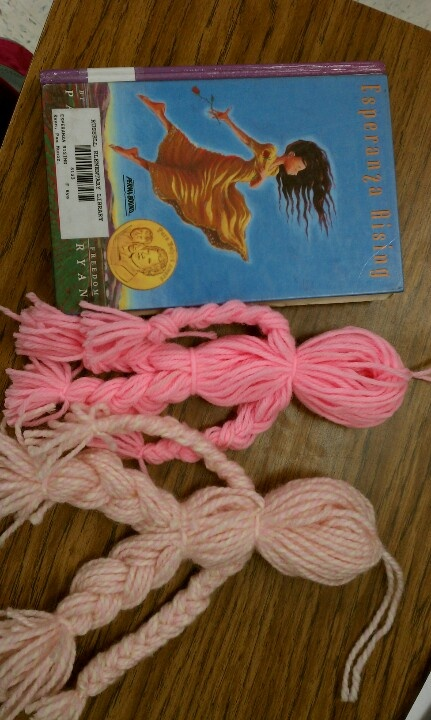 Esperanza Rising Yarn Dolls. Students follow instructions inside book.