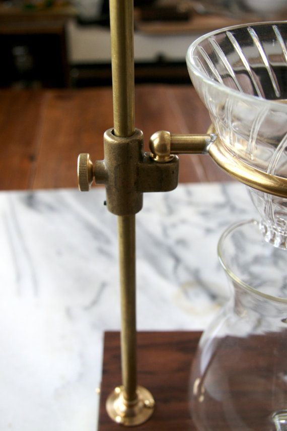 Simply beautiful- The Brass Clerk V60 Coffee Pour Over Stand by TheCoffeeRegistry