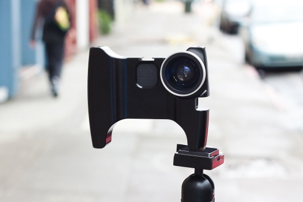 Turn your iPhone into a Hand-held Video Rig     Unibody frame, adjustable VeriCorder mic, and a threaded wide-angle lens