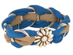 Spinning Daisies Lycra Ribbon Bracelet  - to see all project components please visit AntelopeBeads.com