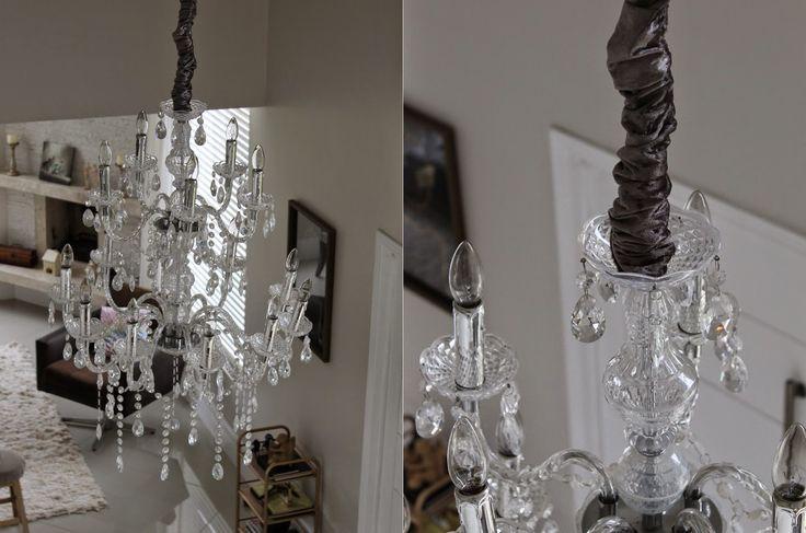 DIY: Capa de fio e corrente de lustre