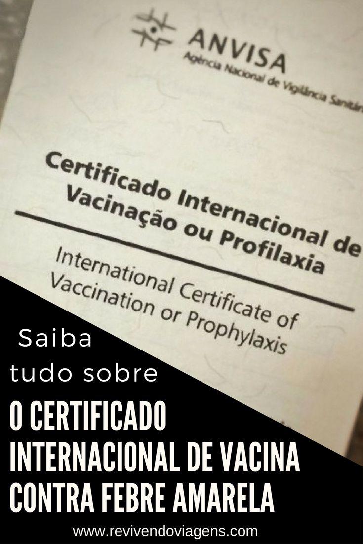 Saiba tudo sobre o Certificado Internacional de Vacinação contra Febre Amarela, documento obrigatório para entrar em vários países, como da Ásia como Tailândia, ou das Américas, como Colômbia, Cuba, entre outros.