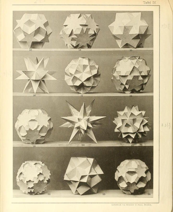 Max Brückner's Collection of Polyhedral Models (1900) vieleckeundvielf00bruoft_0286