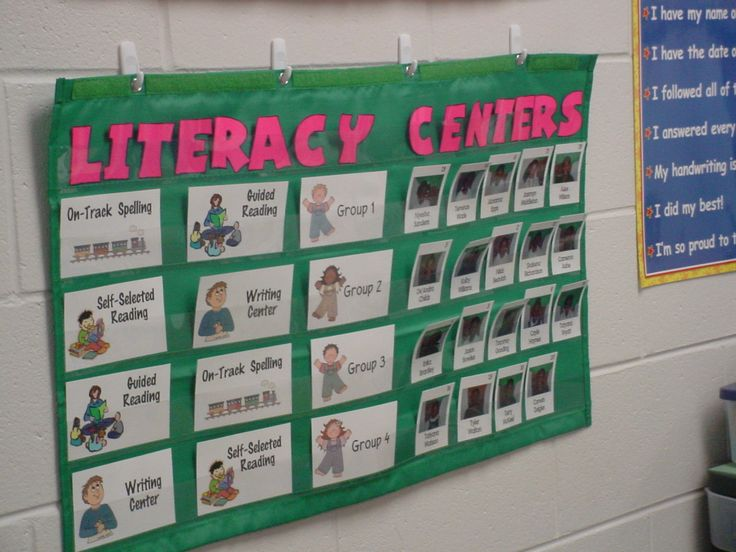 Literacy Center Chart for in the classroom