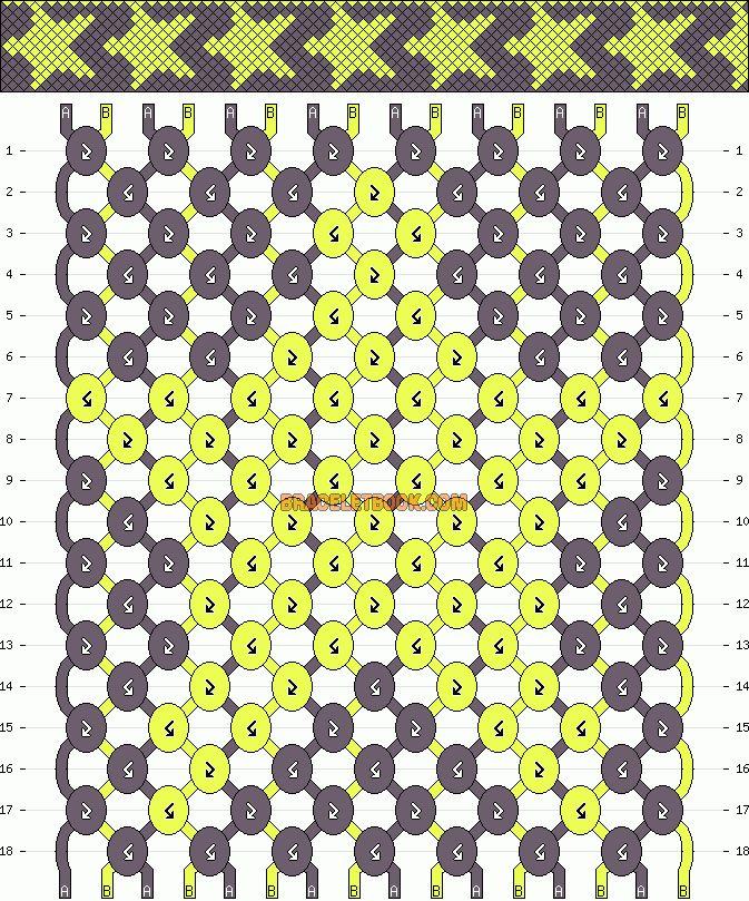 Star Friendship Bracelet Pattern. :)