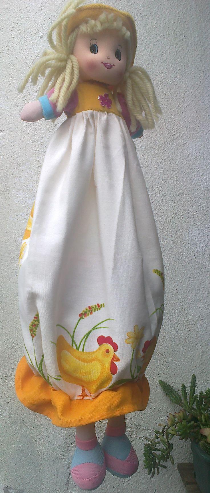 boneca porta-sacos