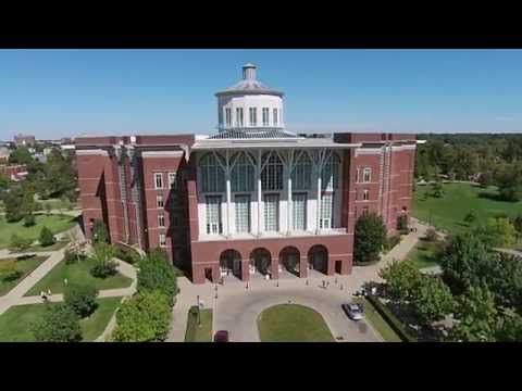The beauty of the University of Kentucky campus from above