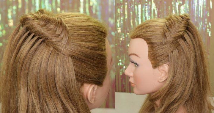 Peinado de media cola🖤super moderno y bonito paso a paso👀 | Alexey.es