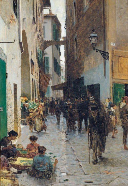Toscane, Florence, le ghetto, par Telemaco Signorini, 1882