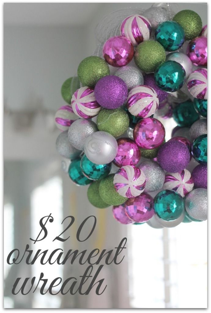$20 Ornament Wreath (+ Determine Your Stock Up Price On Christmas Ornaments)