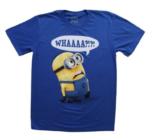 Despicable Me Whaaa Minion T-shirt (Extra Large, Royal Blue)