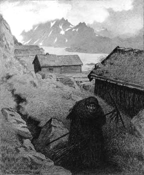 Theodor Kittelsen  Theodor Severin Kittelsen was a Norwegian artist. He is one of the most popular artists in Norway. Kittelsen became famous for his nature paintings, as well as for his illustrations of fairy tales and legends, especially of trolls