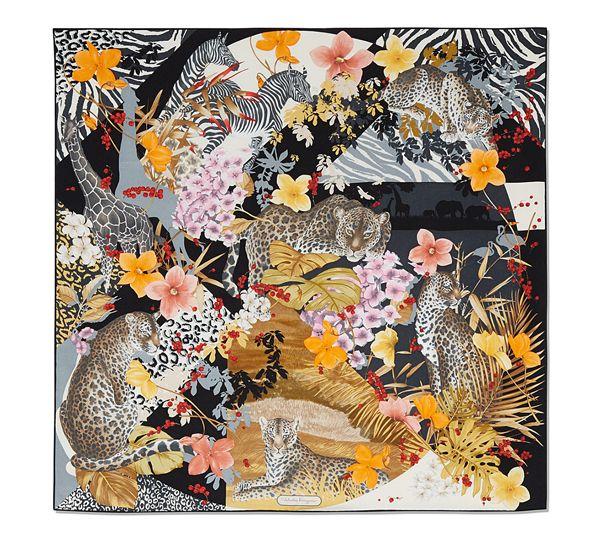 Jungle Print Scarf - SILKS & ACCESSORIES - Women - Salvatore Ferragamo