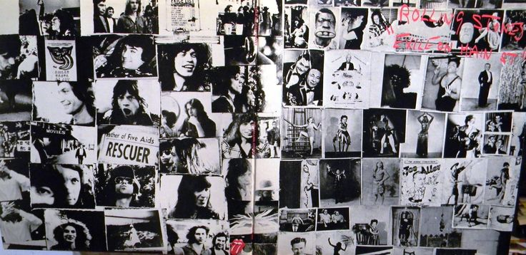 The Rolling Stones/Exile On Main Street (1972) full album cover