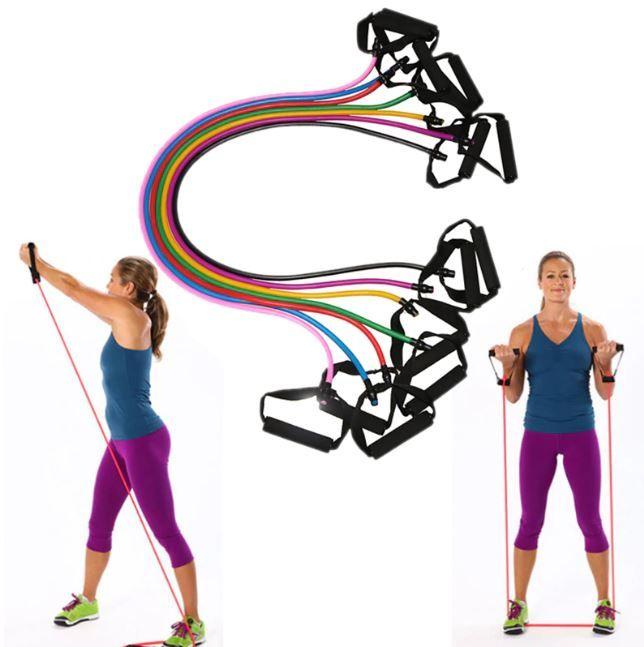 Widerstandsbänder Gymnastikband Expander Resistance Band für Yoga Pilates Sport