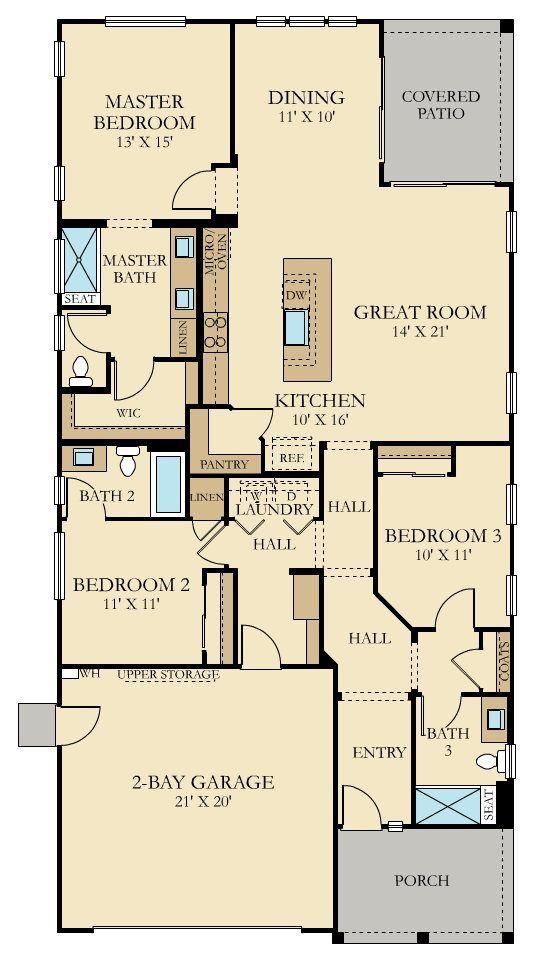 The Diamond   Plan 1784 New Home Plan In Heritage El Dorado Hills: Mosaic