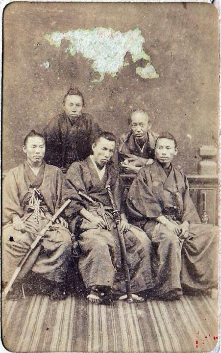 "anshuchristajacobson: "" Historical Samurai – Antique Photograph The names of the samurai in this photo are: Hirobumi Ito, Hiroshi Nakai, Okuma Shigenobu, Kuze Yoshihiro & Inoue Kaoru… """