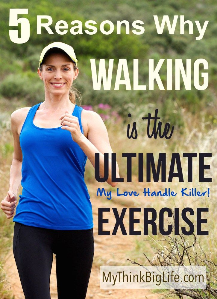 Walking is my love handle killer! It is my most effective exercise for staying slim, feeling good, and clearing my mind.
