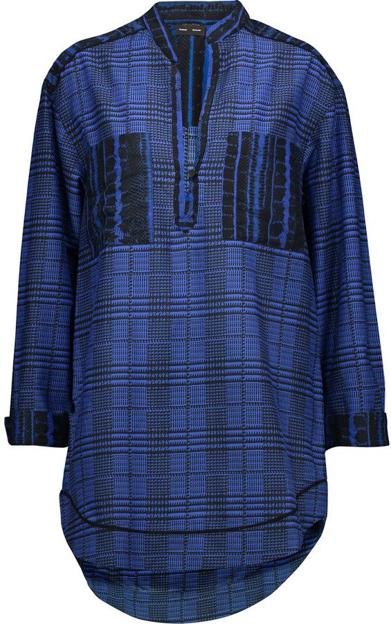Proenza Schouler Checked cotton and silk-blend tunic
