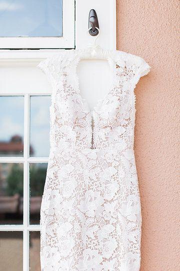 LAUDAE Wilshire dress details --Maggie + Landon by Mckenzie Coyle Photography.