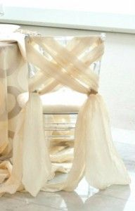 How to make a chair sash look good