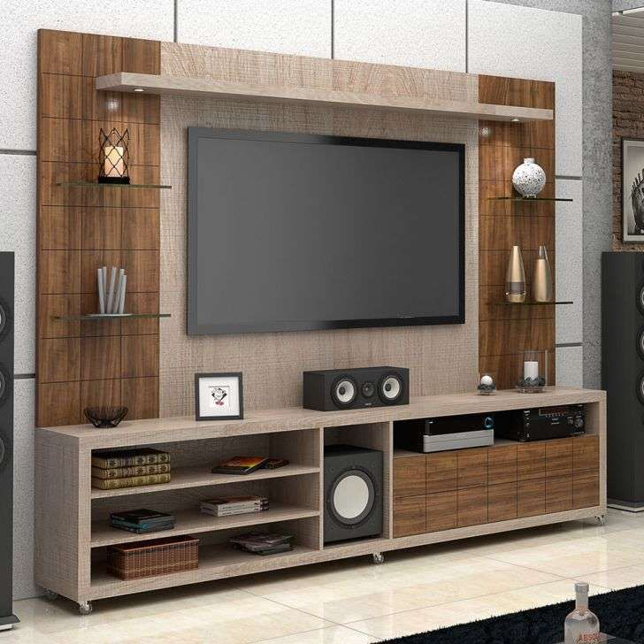 Sala De Tv Com Rack E Painel ~  Rack E Painel on Pinterest  Racks tv, Rack painel and Painel wall